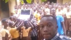 Ce prof ghanéen n'aura plus à dessiner Microsoft Word au tableau pour l'enseigner à ses