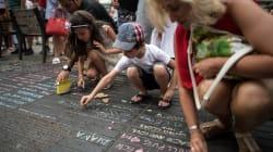 I gessetti di Barcellona sono la dimostrazione che la solidarietà è la chiave contro il