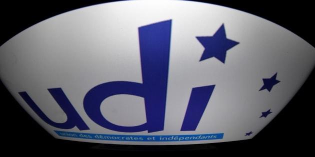 Le logo de l'UDI. AFP PHOTO / LIONEL BONAVENTURE