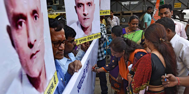 Signature campaign organised by BJP workers to support Kulbhushan Jadhav.