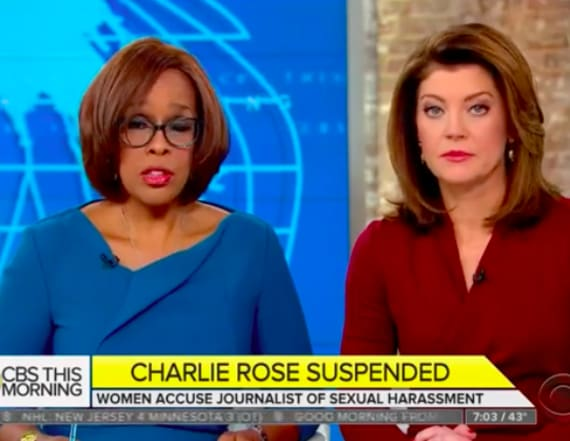 'CBS This Morning' hosts denounce Charlie Rose