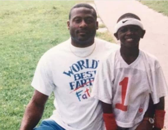 Athletes post tributes to dads, kids on Father's Day