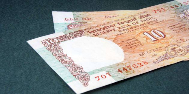 A ten rupee notes (Indian Currency)