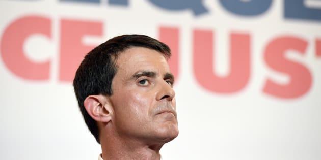 Manuel Valls le jour de l'annonce de son programme pour la présidentielle, le 3 janvier 2017.