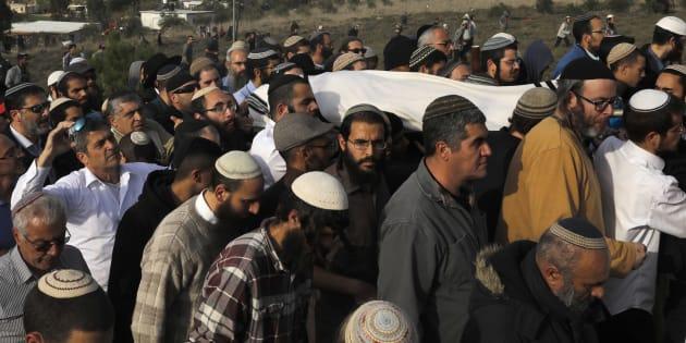 Les funérailles du rabbin Raziel Shevah, 35 ans.
