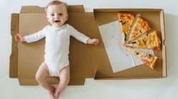 Una manta de bebé hecha con una caja de pizza: la original idea de una madre que causa