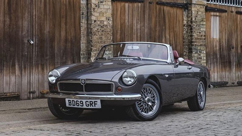 This classic MGB roadster is a modern EV new from the ground up