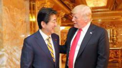 安倍首相、トランプ大統領の自宅で夕食会 「率直につっこんだ意見交換ができた」