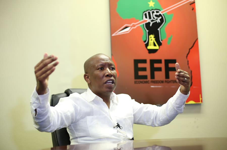 Julius Malema, the head of South Africa's ultra-left Economic Freedom Fighters party (EFF).