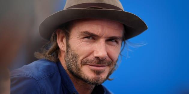 David Beckham en un partido de tenis en junio de 2017.