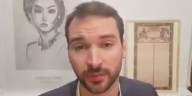 Ugo Bernalicis, expliquant dans une vidéo vouloir porter plainte contre Christophe Castaner.