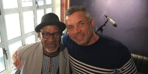 Sipho 'Hotstix' Mabuse and Mark Fish.