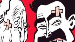 Pour Charlie Hebdo, le vainqueur de l'opposition entre Macron et le duo Bourdin-Plenel ne fait pas de