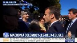 Macron conseille à des retraitées inquiètes d'arrêter de