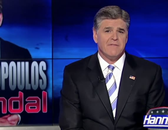Hannity torched Stephanopoulos over donation