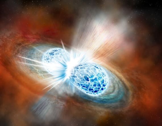 Merging neutron stars create greatest show in space