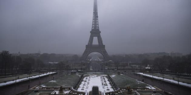 Paris sous la neige le 5 février 2018.