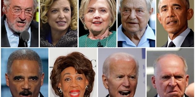 Robert De Niro, Debbie Wasserman Schultz, Hillary Clinton, George Soros, Barack Obama, Eric Holder, Maxine Waters, Joe Biden et John Brennan ont tous été visés par les envois de colis suspects.