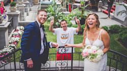 Adam Sandler Surprises Montreal Newlyweds With