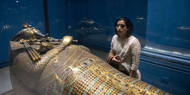 Le sarcophage de Toutankhamon.