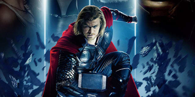"""Pour le premier film """"Thor"""" en 2011, Chris Hemsworth avait les cheveux longs et un marteau."""