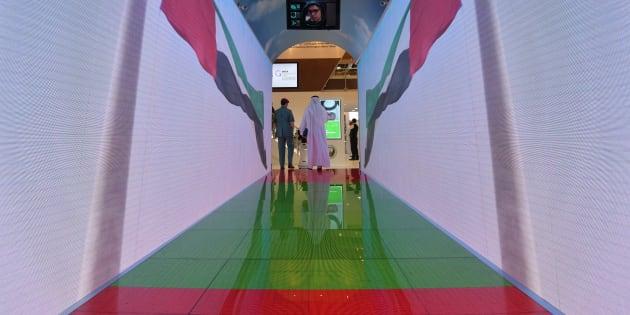 """Le tunnel """"aquarium"""" présenté au World Trade Center de Dubaï."""