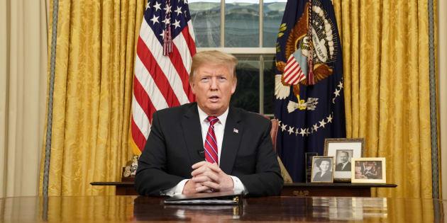 """Trump, lors de son """"Discours à la Nation"""" mardi 8 janvier."""