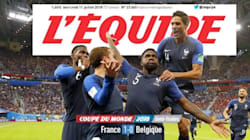La pose de Umtiti après son but victorieux contre la Belgique à la Une de la