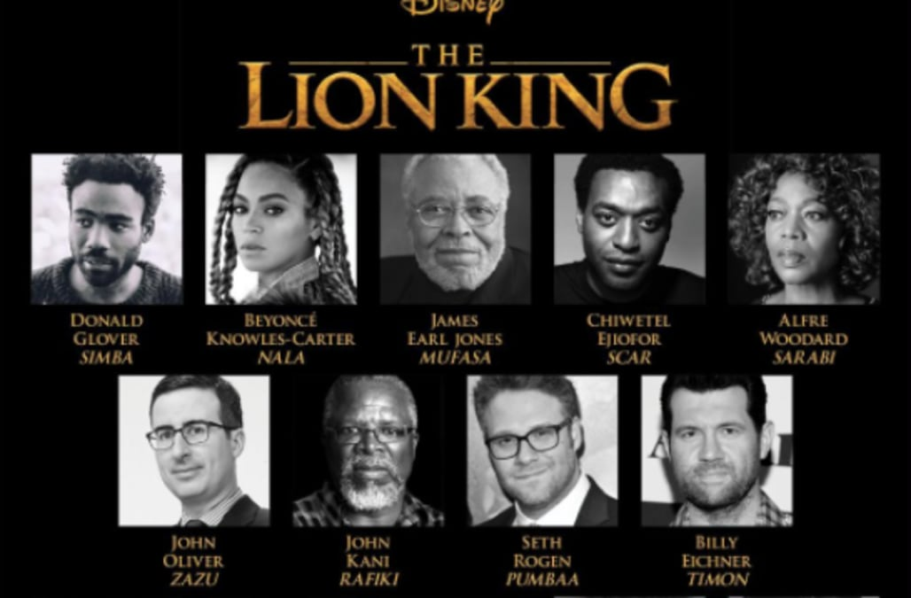 Disney's 'Lion King' unveils full cast with Beyonce ...