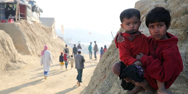 Rohingya refugee children at the Jamtoli camp in Cox's Bazar, Bangladesh, January 22, 2018. REUTERS/Mohammad Ponir Hossain