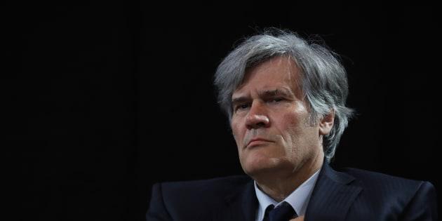 """Stéphane Le Foll, au meeting de """"Hé ho la gauche"""", en avril à Paris."""