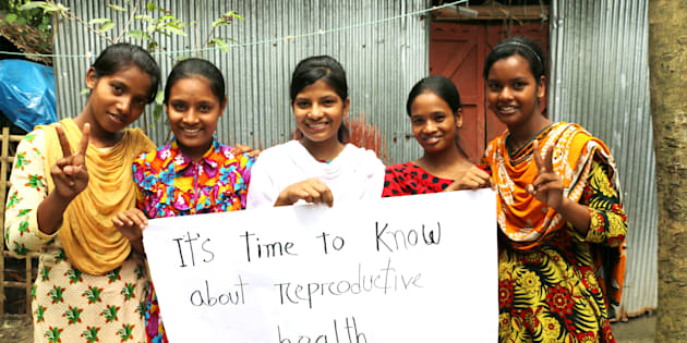 Girls in Bangladesh learning about their sexual and reproductive health rights (SRHR). Plan International Canada is working to raise awareness on SRHR around the world to help #ChangetheBirthStory.