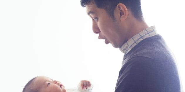 父親と乳児