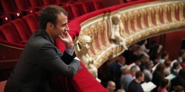 """Le """"Pass culture"""" était une promesse de campagne d'Emmanuel Macron (ici à l'opéra de Strasbourg en octobre)."""
