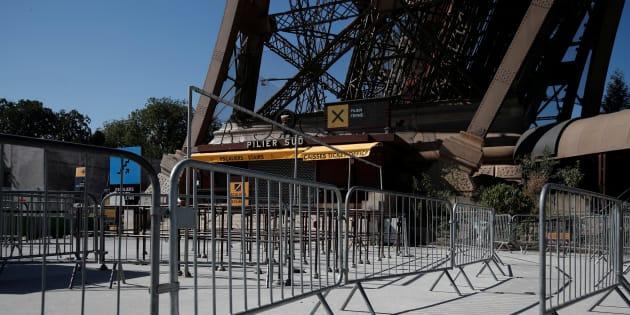 Fin de la grève à la Tour Eiffel.