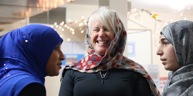 Visitors at the Newmarket Islamic Centre in Newmarket, Ont. on Nov. 10, 2018.