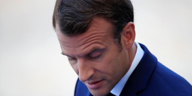 Emmanuel Macron le 14 juillet à Paris.