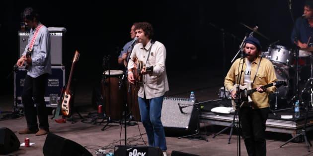 Le groupe Allah-Las à Rock en Seine le 25 août 2017.