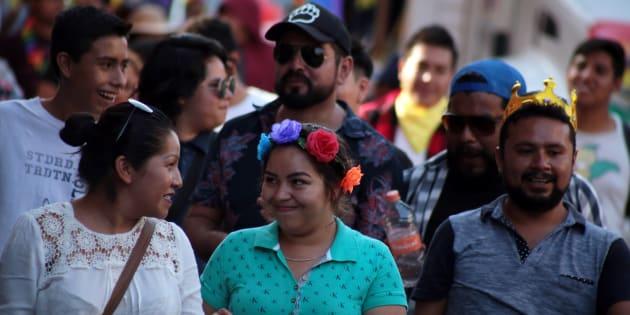 Participantes de la Marcha Diversidad Morelos.