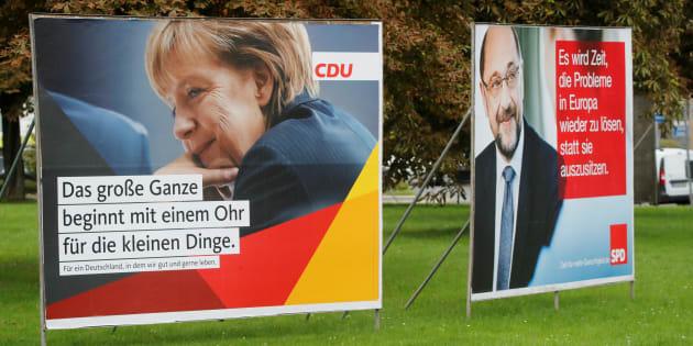 """Les élections allemandes prisonnières du """"hamac de Merkel""""."""