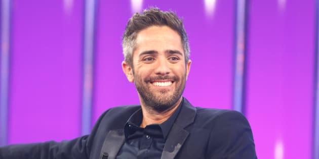 El presentador Roberto Leal durante el programa 'Operación Triunfo' en Barcelona.