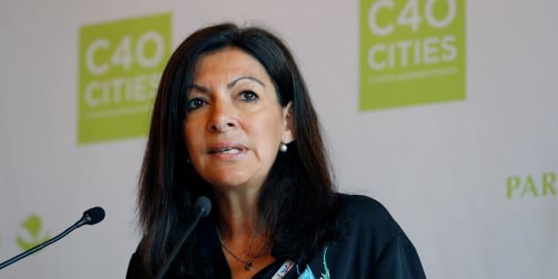Anne Hidalgo à la mairie de Paris en juin 2017.
