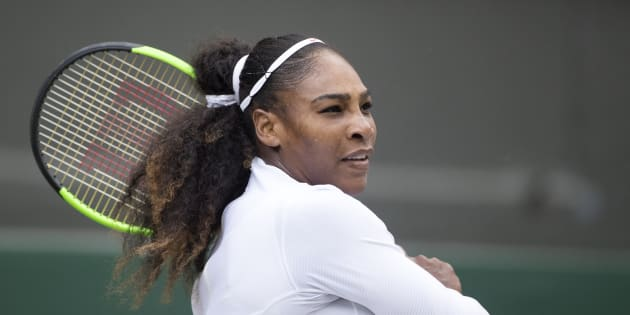 Serena Williams au tournoi de Wimbledon, Londres, le 10 juillet 2018
