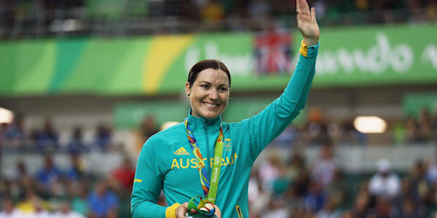 Anna Meares won the bronze medal in the keirin at Rio 2016 Olympic Games.