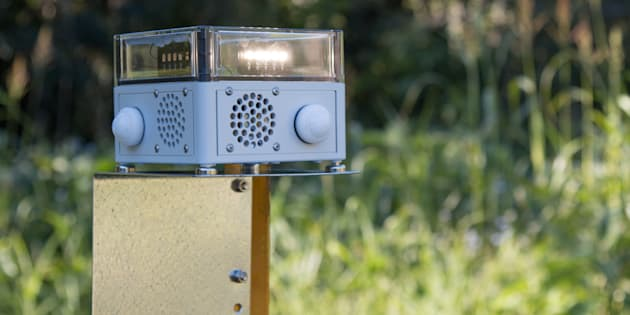 The VPDad uses light and sound to deter animal pests.