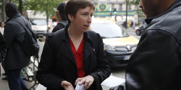 Caroline De Haas à Paris, en mai, lors de la campagne pour les législatives.