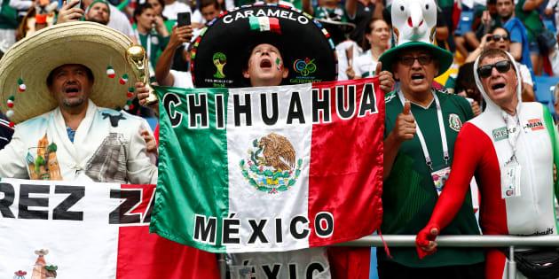 La Selección Mexicana brilla en el estadio por su colorido.  REUTERS/Damir Sagolj