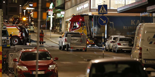 At least four people have died following a suspected terror-related truck attack in Stockholm.