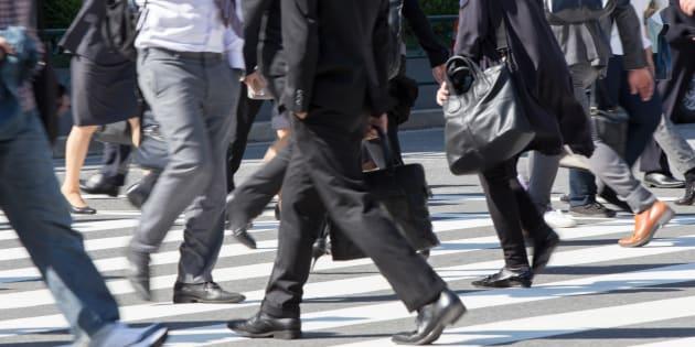 Commuting scenery in Japan (businessman)