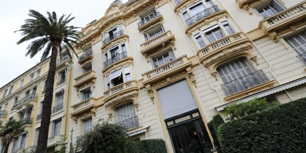 L'immeuble de Jacqueline Veyrac à Nice, où elle a été enlevée le 25 octobre.